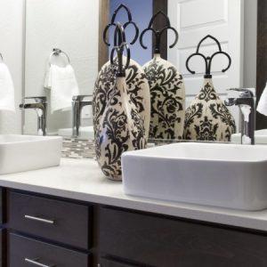 Bathroom in model apartment
