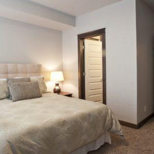 Bedroom in model apartment