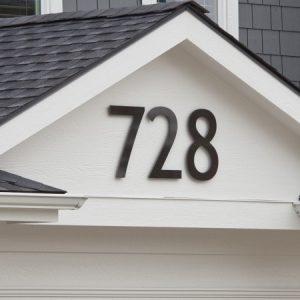 Close up image of building address 728