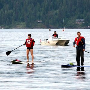 Paddle boarders on Lake Coeur d'Alene