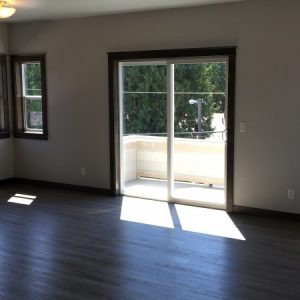 Living room in vacant apartment